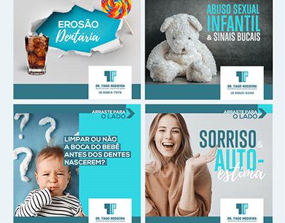 Posts para redes sociais para Dr Tiago Odontologia