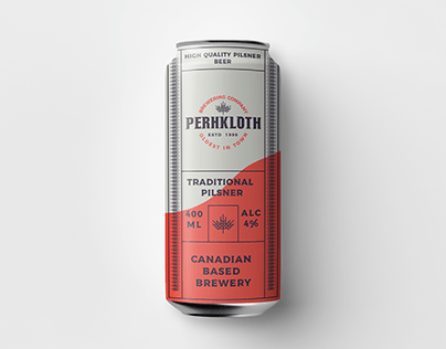 Perhkloth brewery branding.