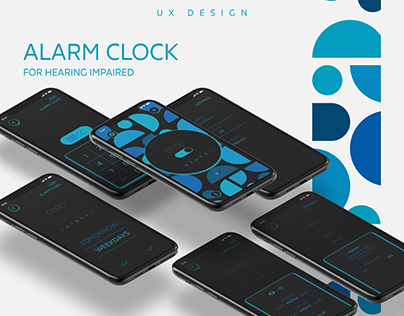 Alarm clock for hearing impaired / Mobile App UX design
