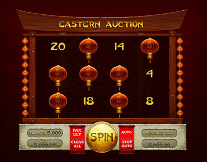 "Online slot machine – ""Eastern Auction"""