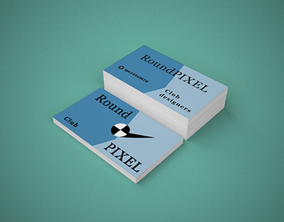 Business card with a pleasant and readable font