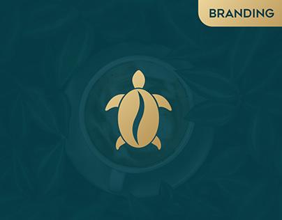 Turtle logo - Coffee logo design - Turtle logo design