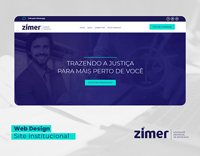 Design Web Site Zimer Advocacia - UI/UX Wordpress