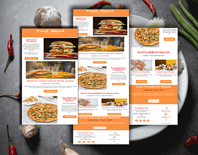 Food Product Email Template | Newsletter Design