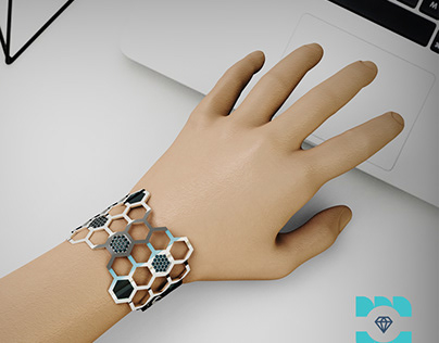 Tutorial video :modeling hexagon bracelet