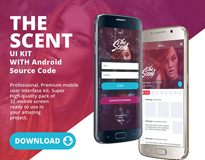 The Scent UI KIT With Android Source Code