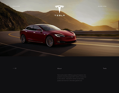 Tesla / Website concept