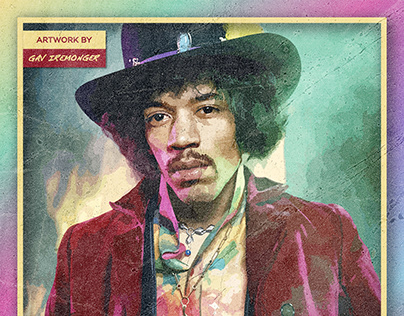 Are You Experienced | Digital Portrait of Jimi Hendrix