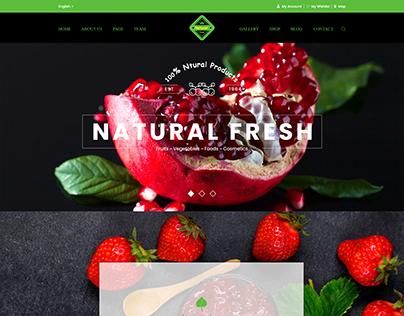 Natural Fresh UI\UX Design