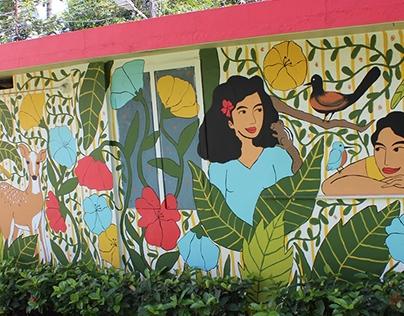 The Secret Garden Mural