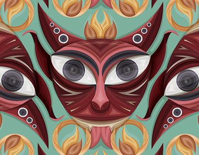 Diablitos de Ocumicho - Pattern