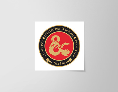Dungeons & Dragons Challenge Coin