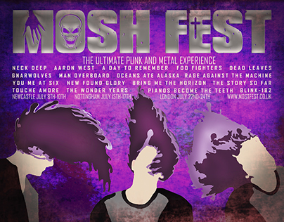 AS Coursework- Mosh Fest