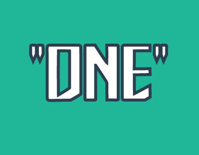 ONE | FREE Typeface
