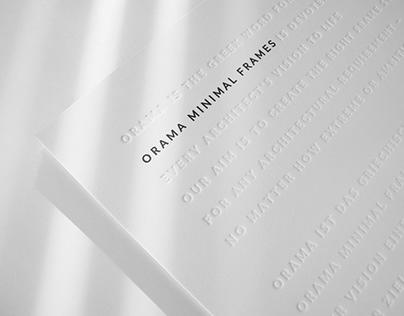 Orama Minimal Frames - Company Book