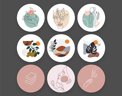 Обложки для актуального в Instagram