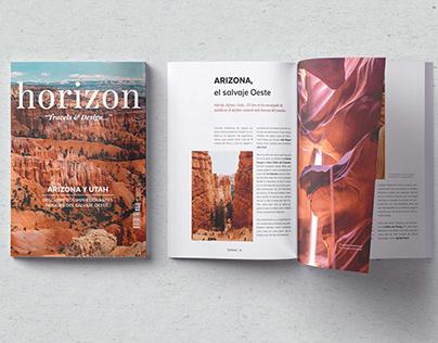 Revista Horizon - proyecto de maquetación editorial