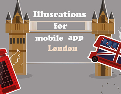 Vector Illustrations for the mobile app