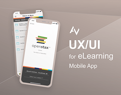 eLearning Mobile App UX/UI