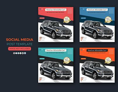 Rent Car Social Media Post Template