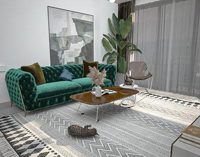 Ecletic living room