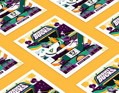 Anaheim Ducks: 25th Anniversary Poster