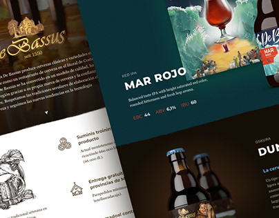 Лендинг испанской пивоварни DeBassus