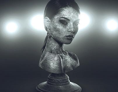 Statue Photoshop Template