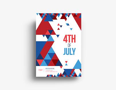 Minimal 4th Of July Flyer