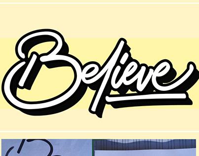 Believe handlettering vectorize