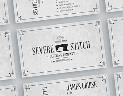 Free Sewing Business Card Design Template