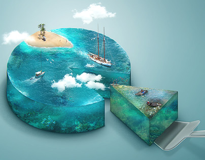 Choose your piece of ocean - isometric