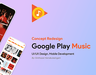Google Play Music Concept Redesign
