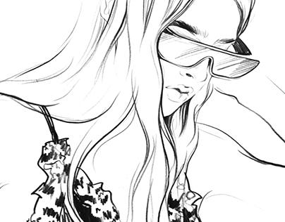 Illustrations for Dior. Part #2-pencil
