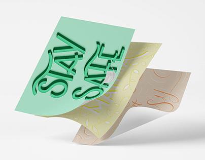 Pastel lettering
