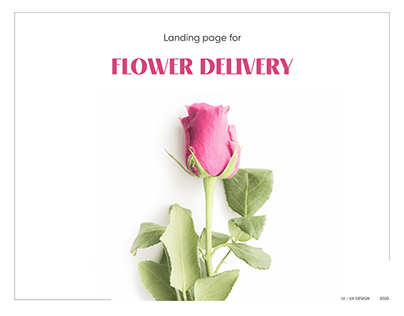 Flower Delivery | Landing Page