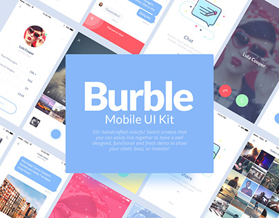 Burble Mobile UI Kit