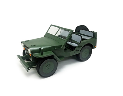 Willys replica - handmade cardboard model