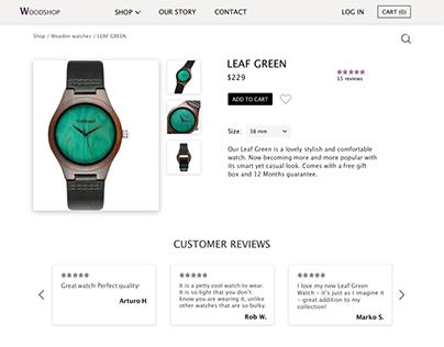 Wooden watches e-shop