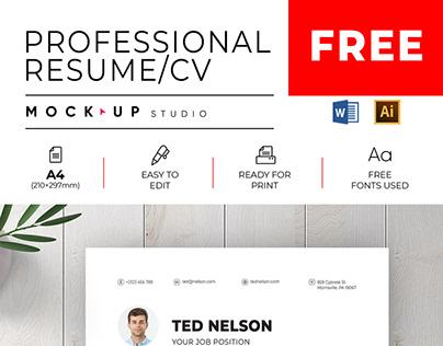 Free Professional Resume/CV