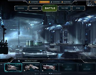 Free UI work for spaceship-Sci-Fi Games:
