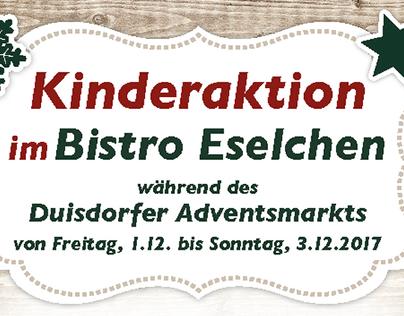 Flyer für Bistro Eselchen
