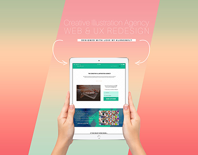 Creative Illustration Agency Web and UX ReDesign