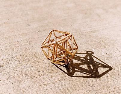 Pyramids Brass Necklace