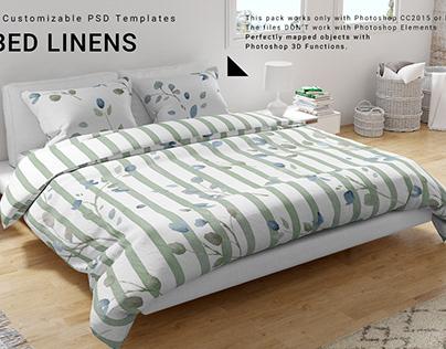 Bed Linen Mockups Set