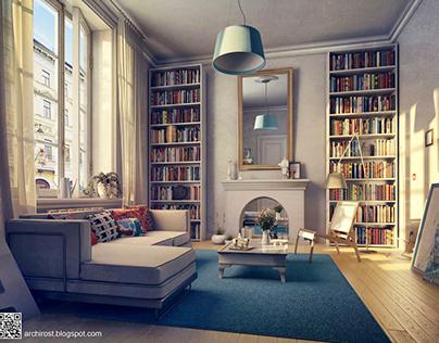 Interiors in a scandinavian style.