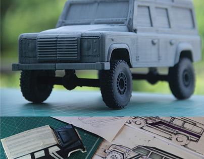 Scale model 1:18 Land rover Defender 110