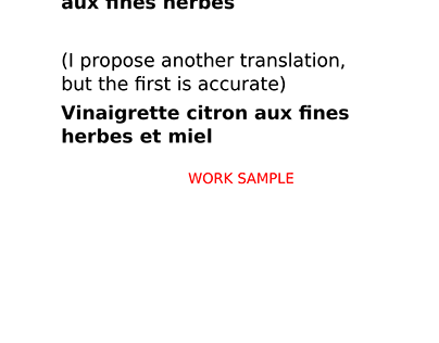TITLE TRANSLATION PROJECT [CANADIAN FRENCH]