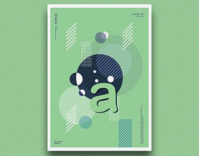 "letter poster ""a"" | poster design challenge"