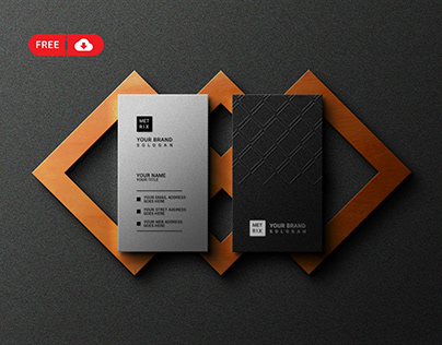 Download Free Luxury Business Card with Logo Mockup